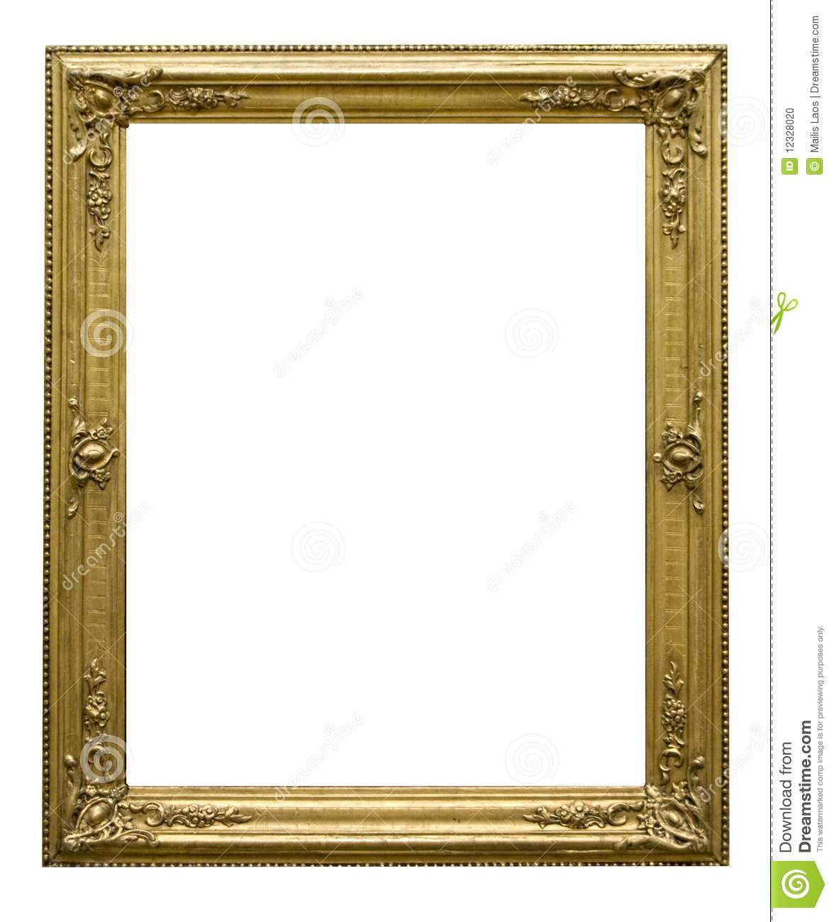 Marcos Para Cuadros Grandes Decorated Picture Frame Stock Photo Image 12328020