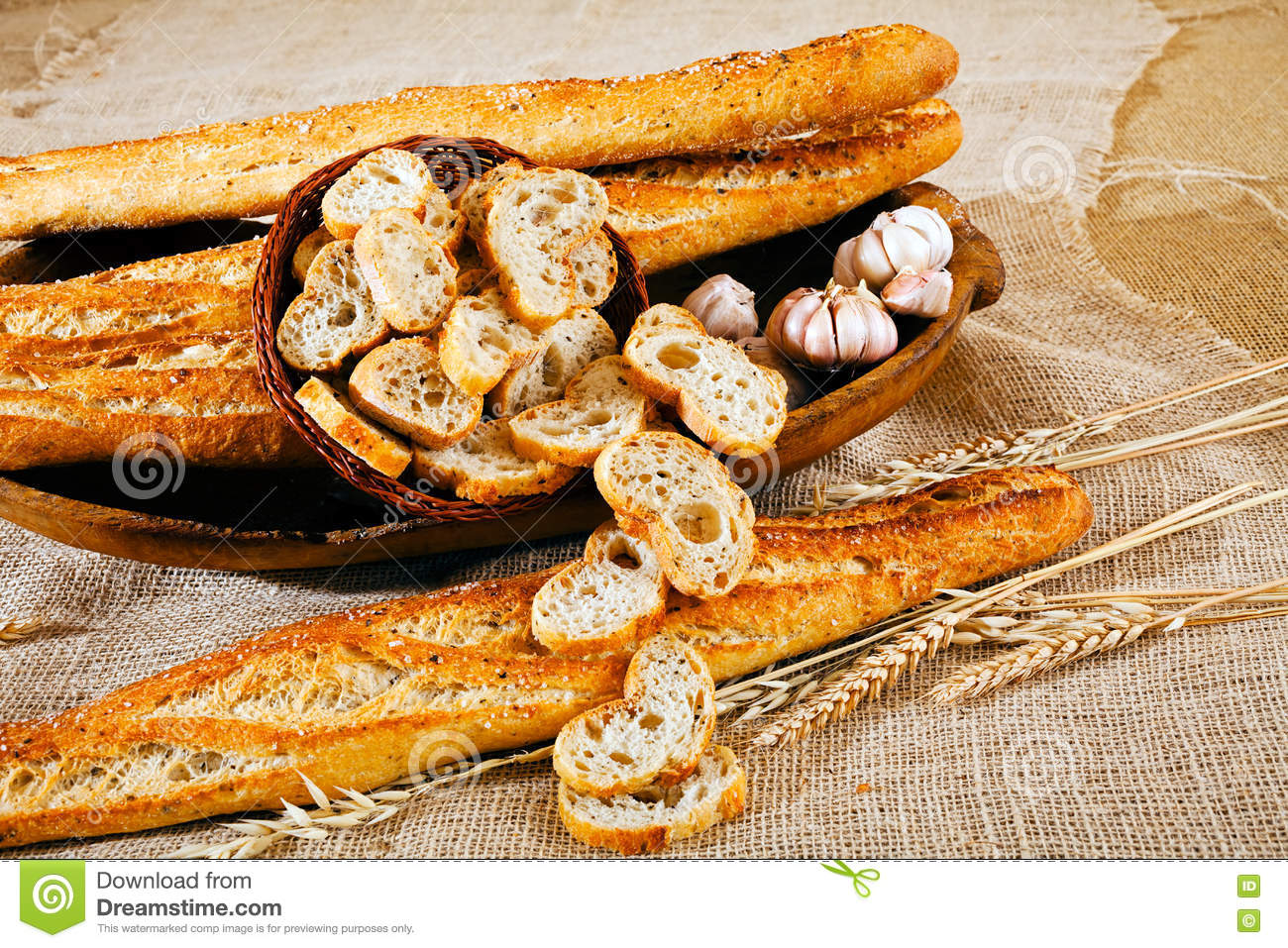 Baguette De Décoration Decoration With Baguette Bread Stock Image Image Of Baguette