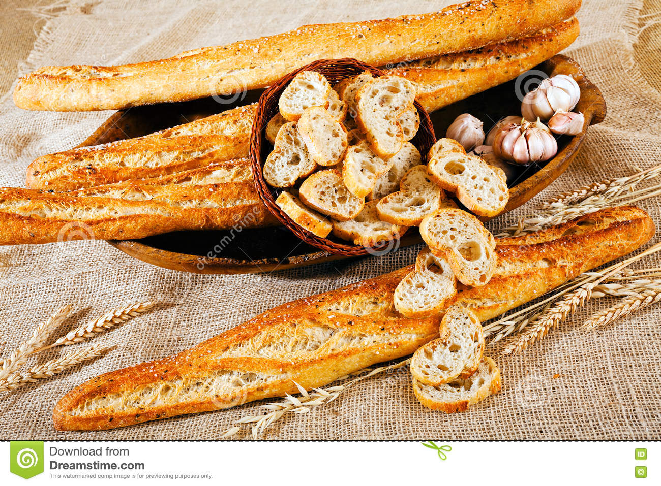 Baguette De Décoration Decoration With Baguette Bread Stock Image Image Of Background
