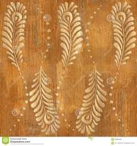 Decorative Peacock Feathers - Wood Texture - Seamless ...