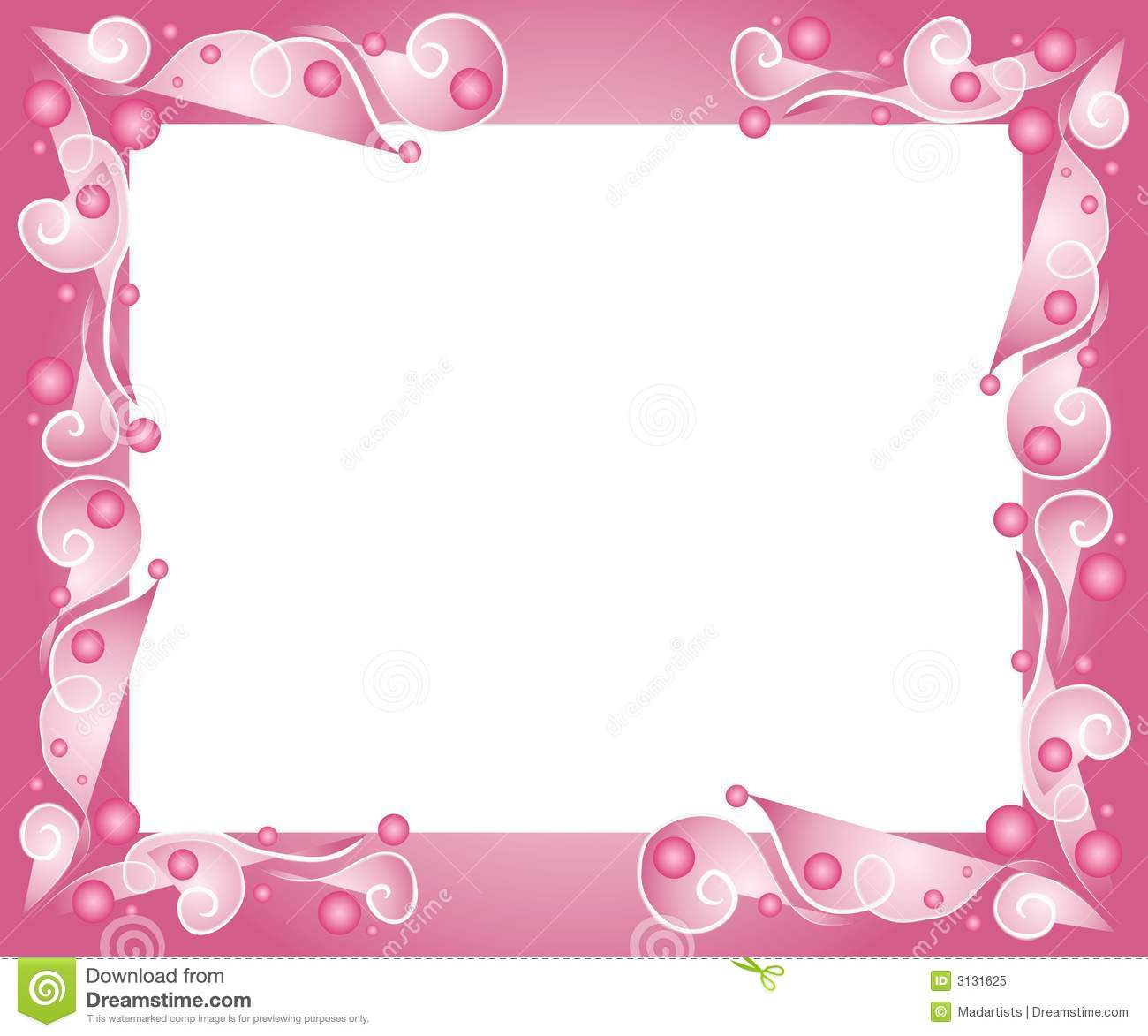 Cute Bordered Pastel Flower Wallpaper Decorative Pink Frame Border Royalty Free Stock Photo