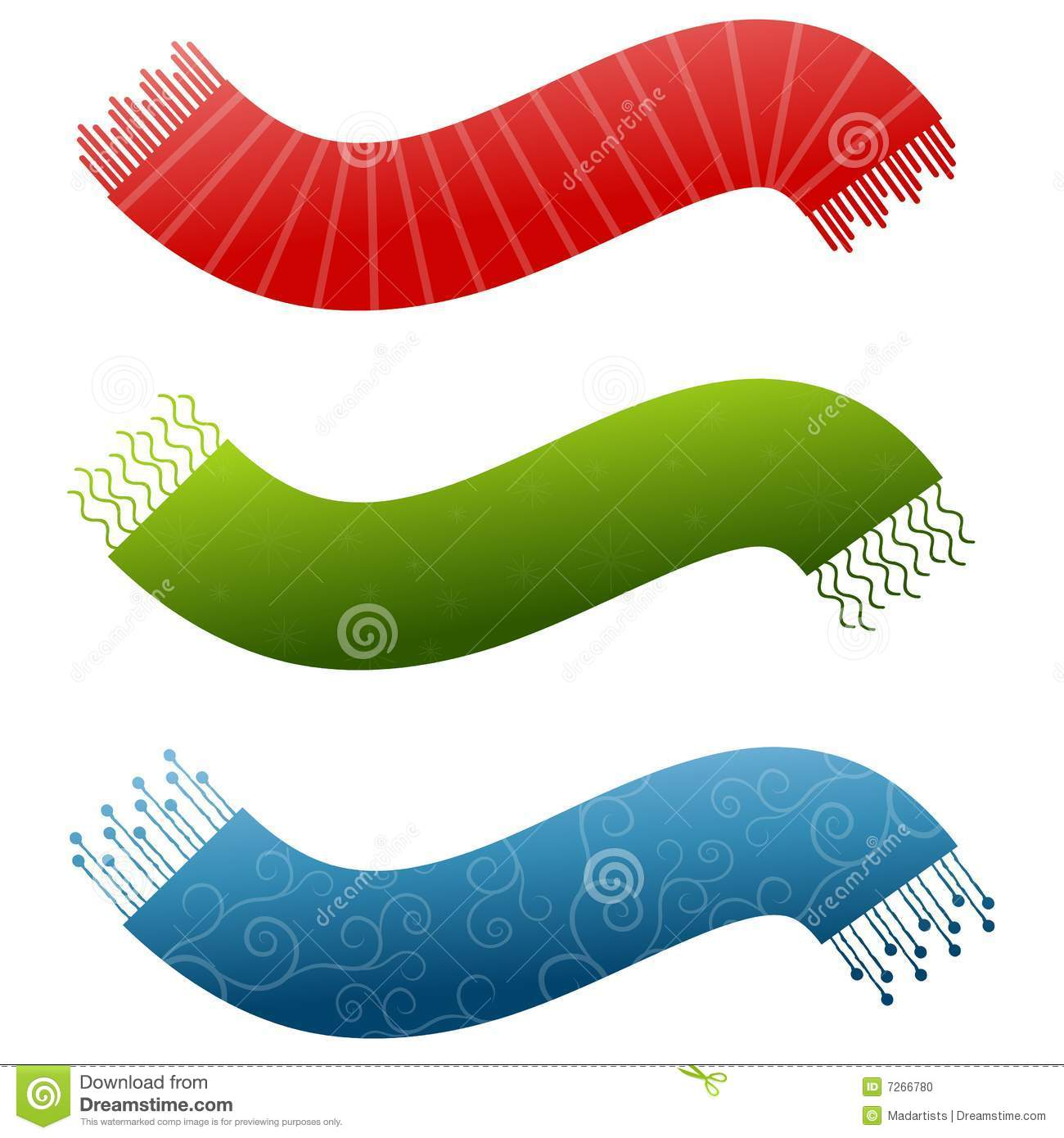 Scarves With Company Logo Decorative Scarf Logos 2 Stock Photo Image 7266780