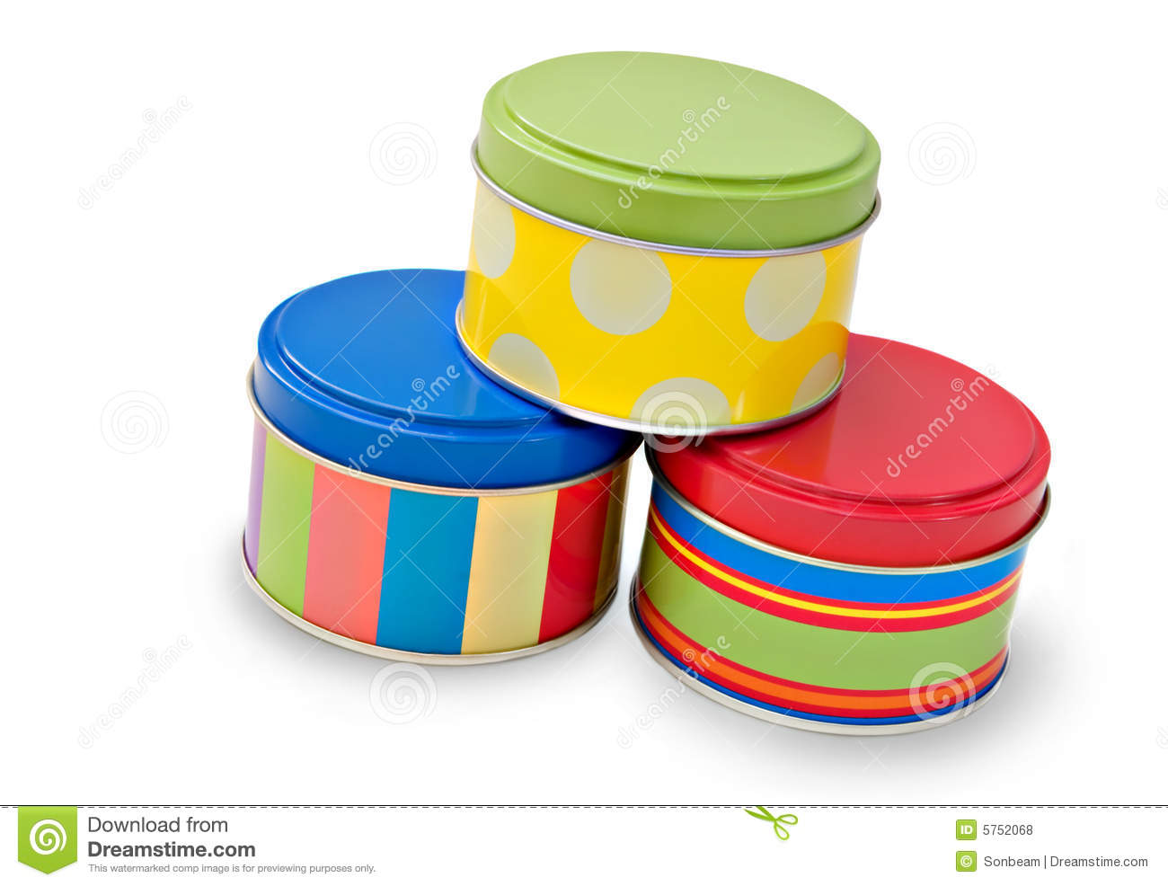 Decorative Cookie Containers Royalty Free Stock Photos Decorative Tins Image 5752068