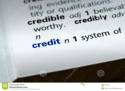 Definition Of Credit Stock Photo - Image: 6427610