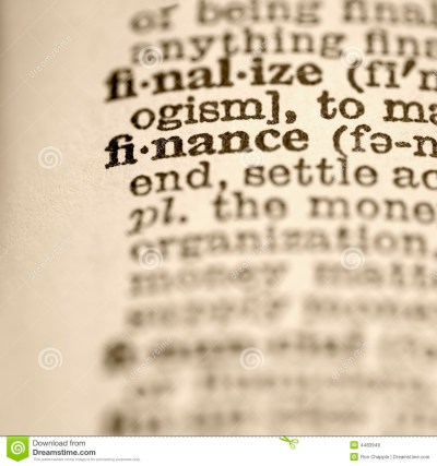 Definition Of Finance. Royalty Free Stock Images - Image: 4483949