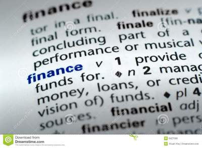 Definition Of Finance Royalty Free Stock Photos - Image: 6427508