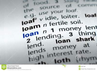 Definition Of Loan Royalty Free Stock Photos - Image: 6427438