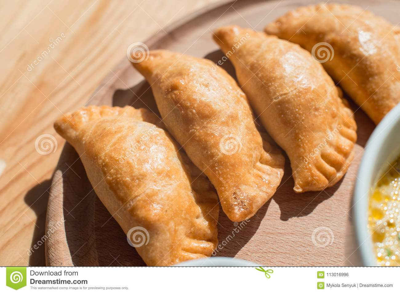 Cuisine Argentina A Delicious Empanadas With Chicken Meat Typical Dish Of Argentinean