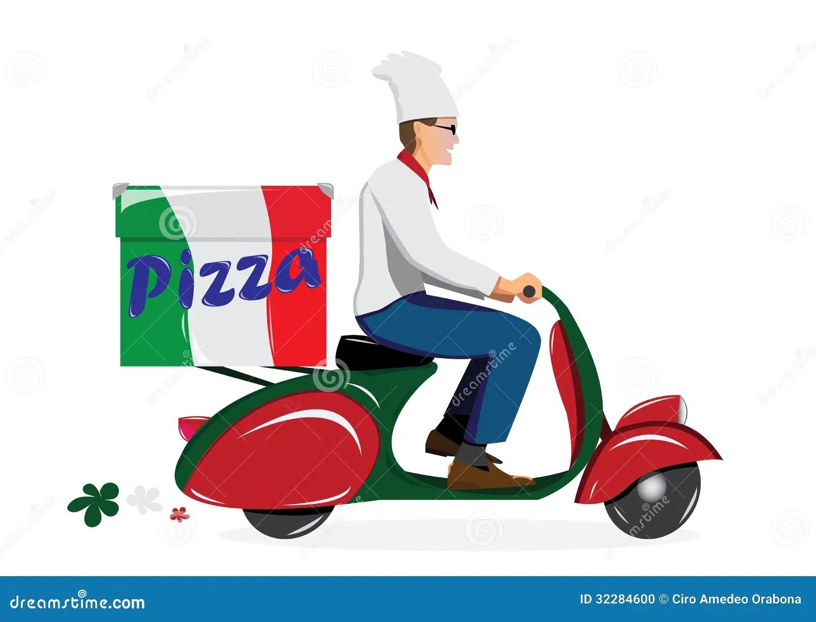 Moto Wallpaper 3d Deliver Pizza Stock Photo Image 32284600