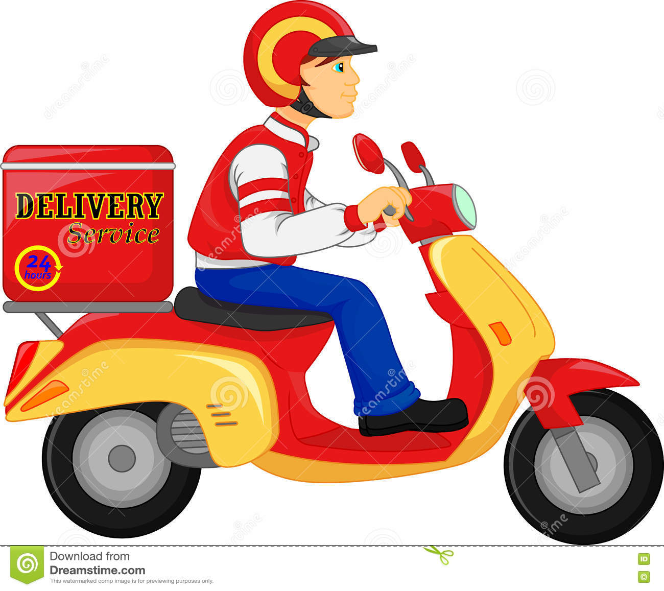 Gifi Livraison Delivery Boy Ride Scooter Motorcycle Service Order