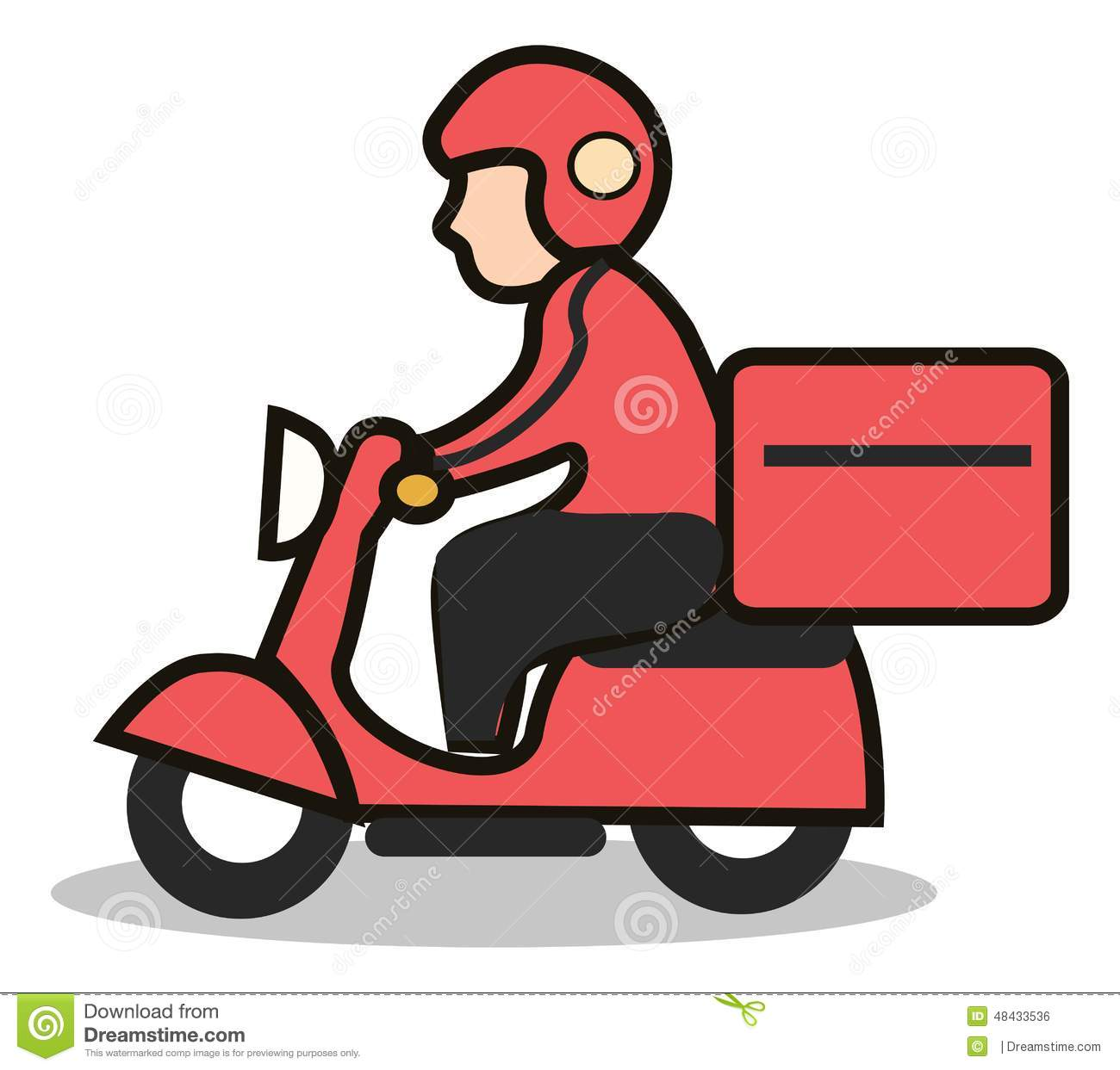 Gifi Livraison Delivery Scooter Icon Stock Illustration Image 48433536