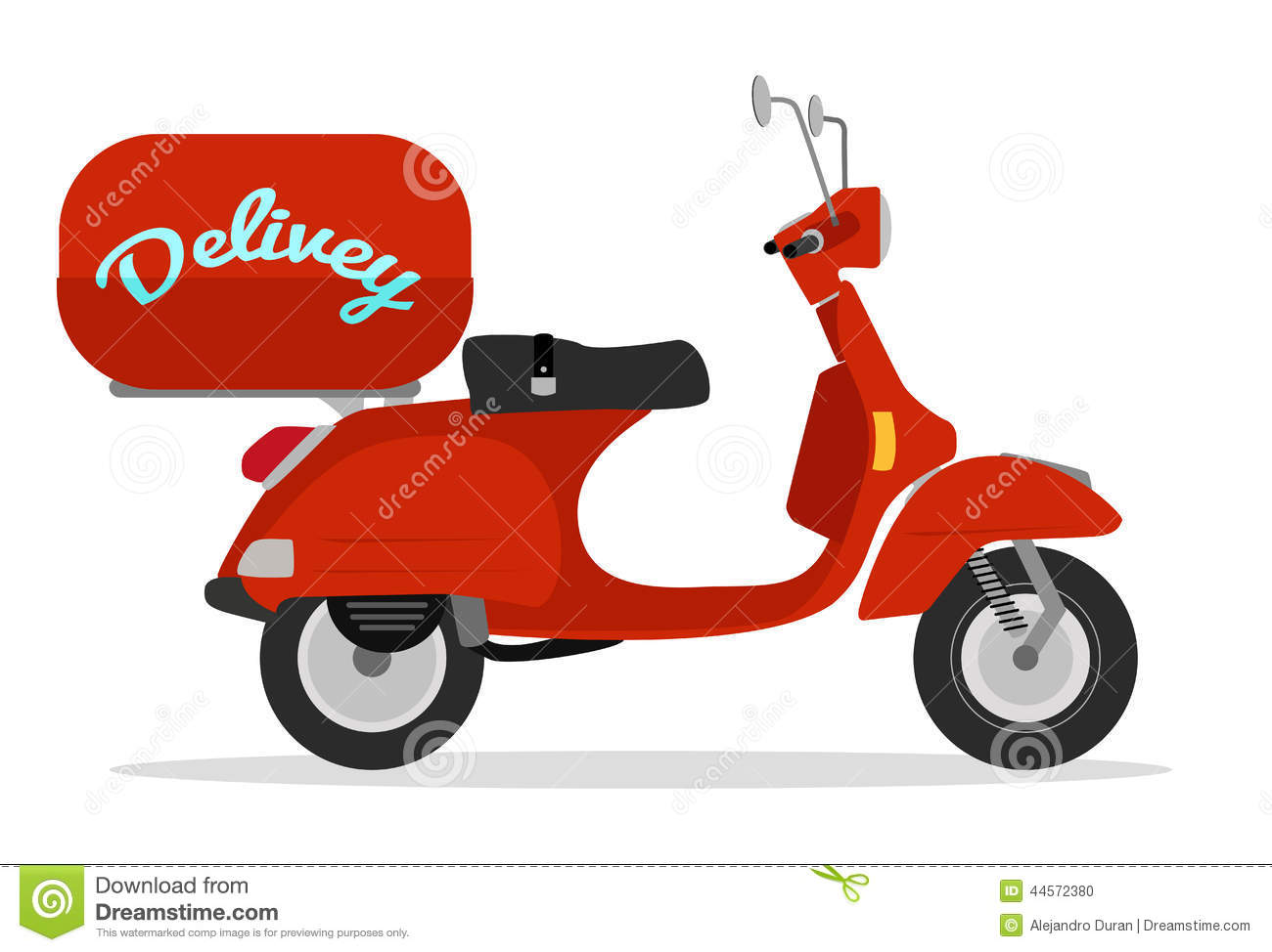 Gifi Livraison Delivery Scooter Stock Vector Illustration Of Deliver