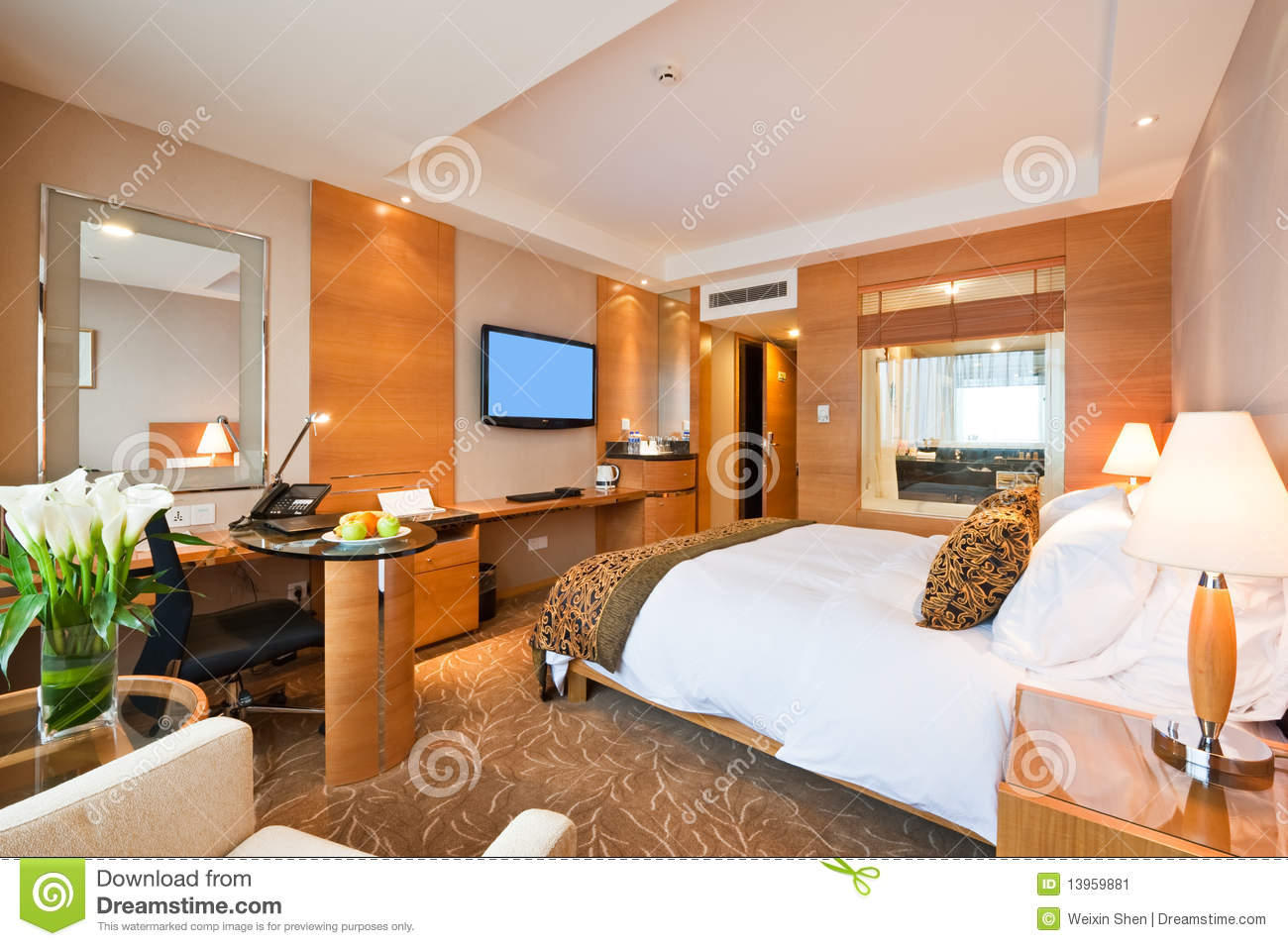 Tablet Wandhalterung Selber Bauen Deluxe Single Room In Hotel Stock Image Image 13959881