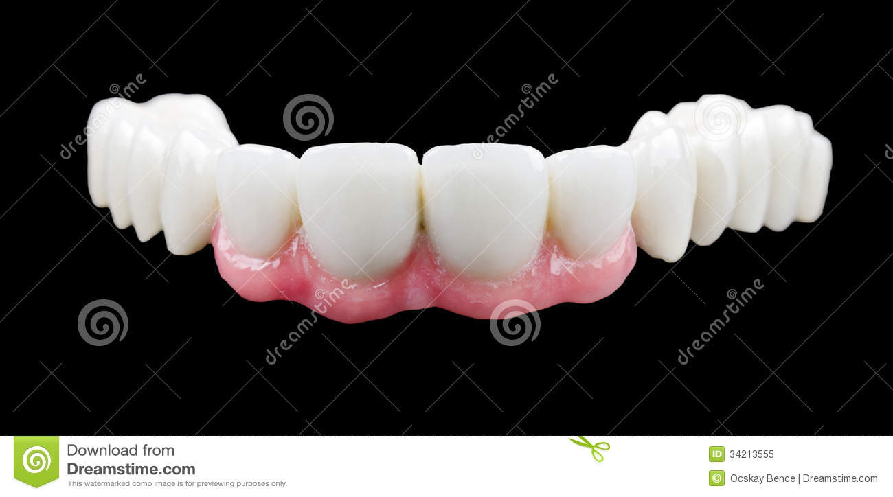 Dents En Porcelaine Dents De Porcelaine Image Stock Image Du Dentier Artificiel