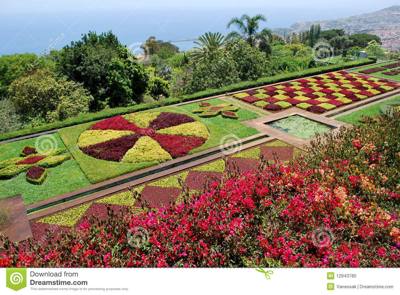 Der Botanische Garten Der Botanische Garten Von Funchal In Madeira Stockfoto