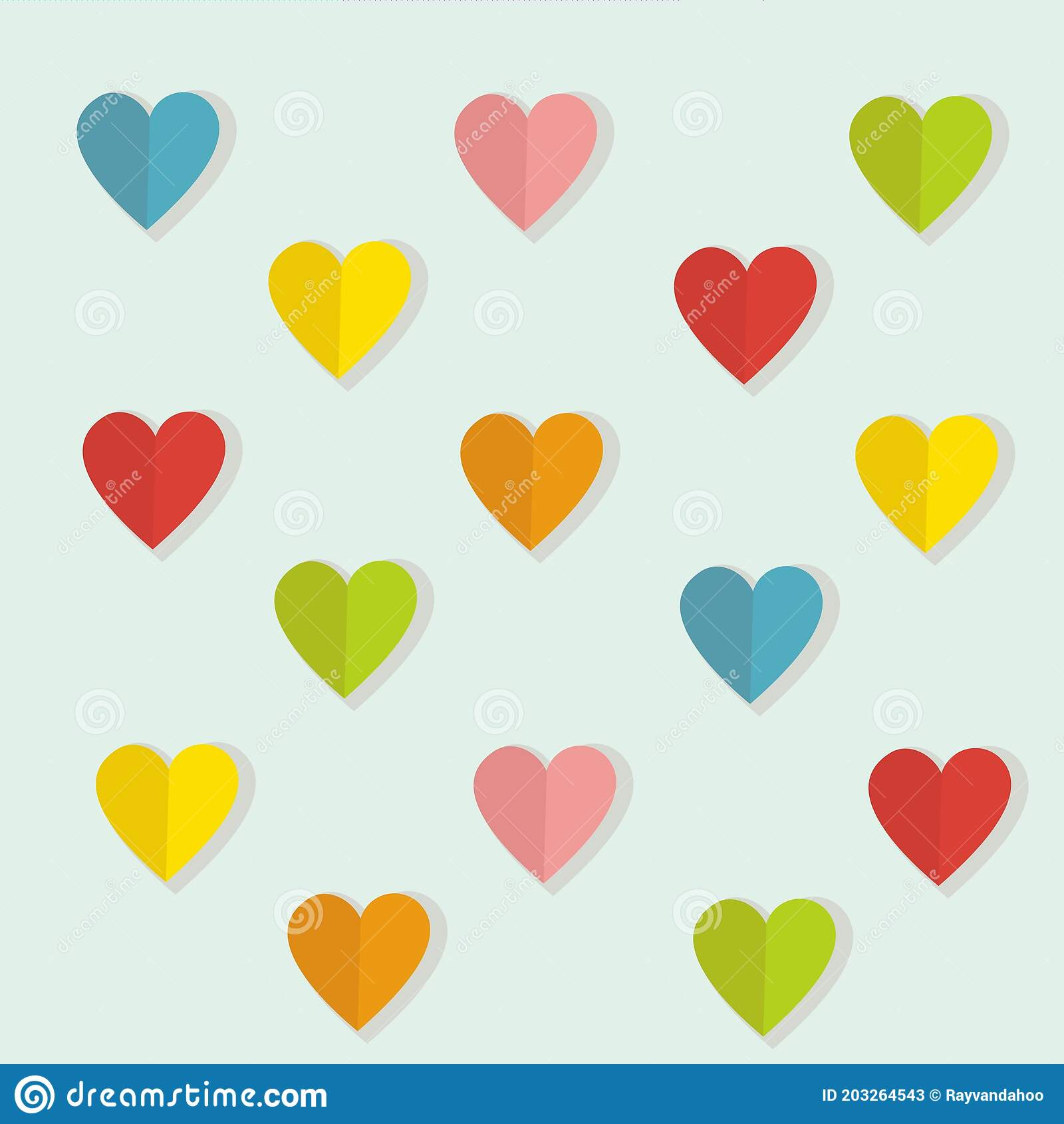 Design Of Love Paper In A Soft Colour Background For Any Template And Social Media Post Stock Vector Illustration Of Ball Animation 203264543