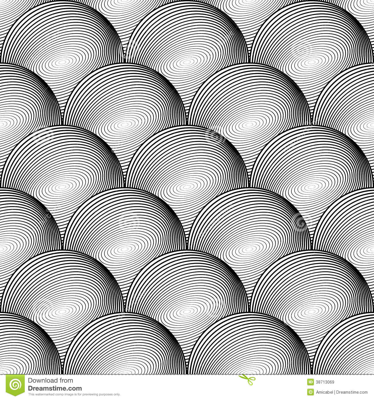Black White And Silver Striped Wallpaper Design Seamless Sphere Geometric Lines Pattern Royalty