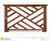 Design Wooden Railing With Wooden Balusters Royalty Free