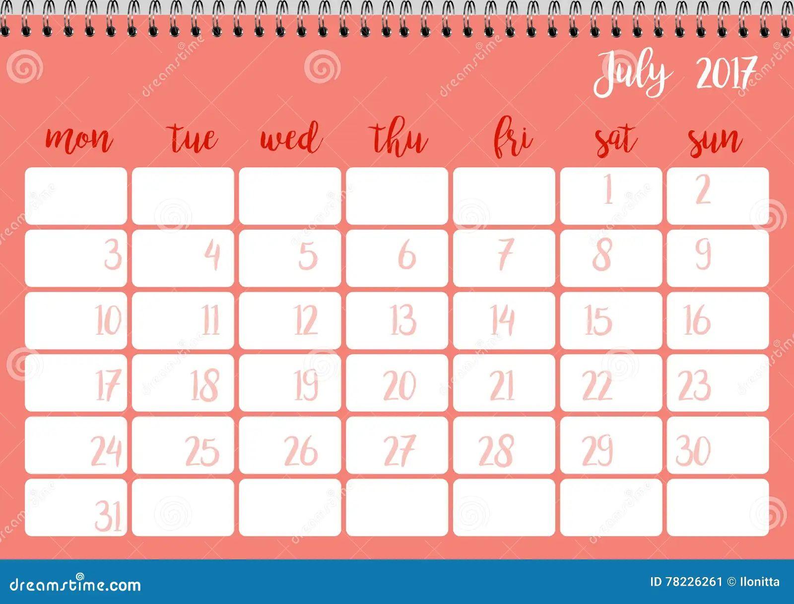 calendar week template