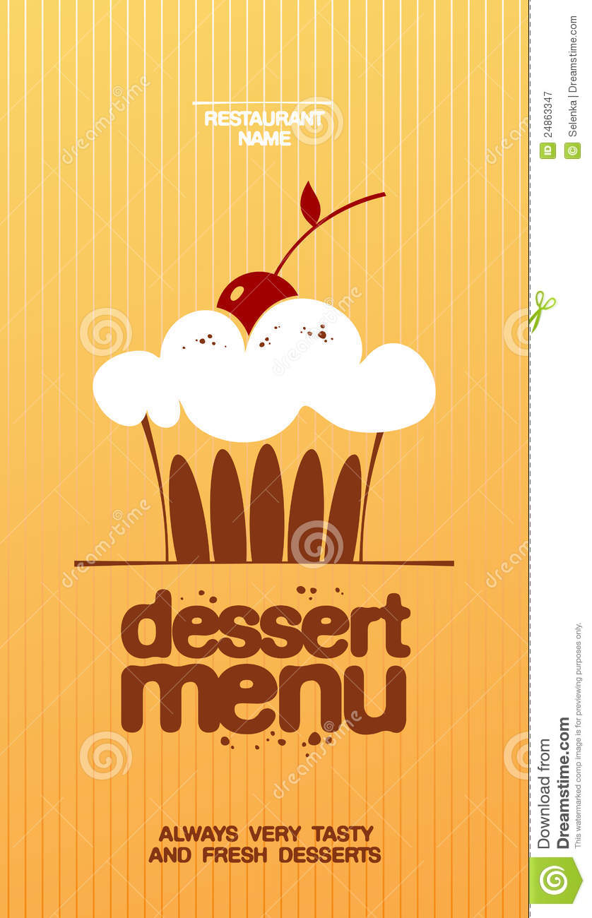 Stock Image Template Dessert Menu Royalty Free Stock Photography Image 24863347