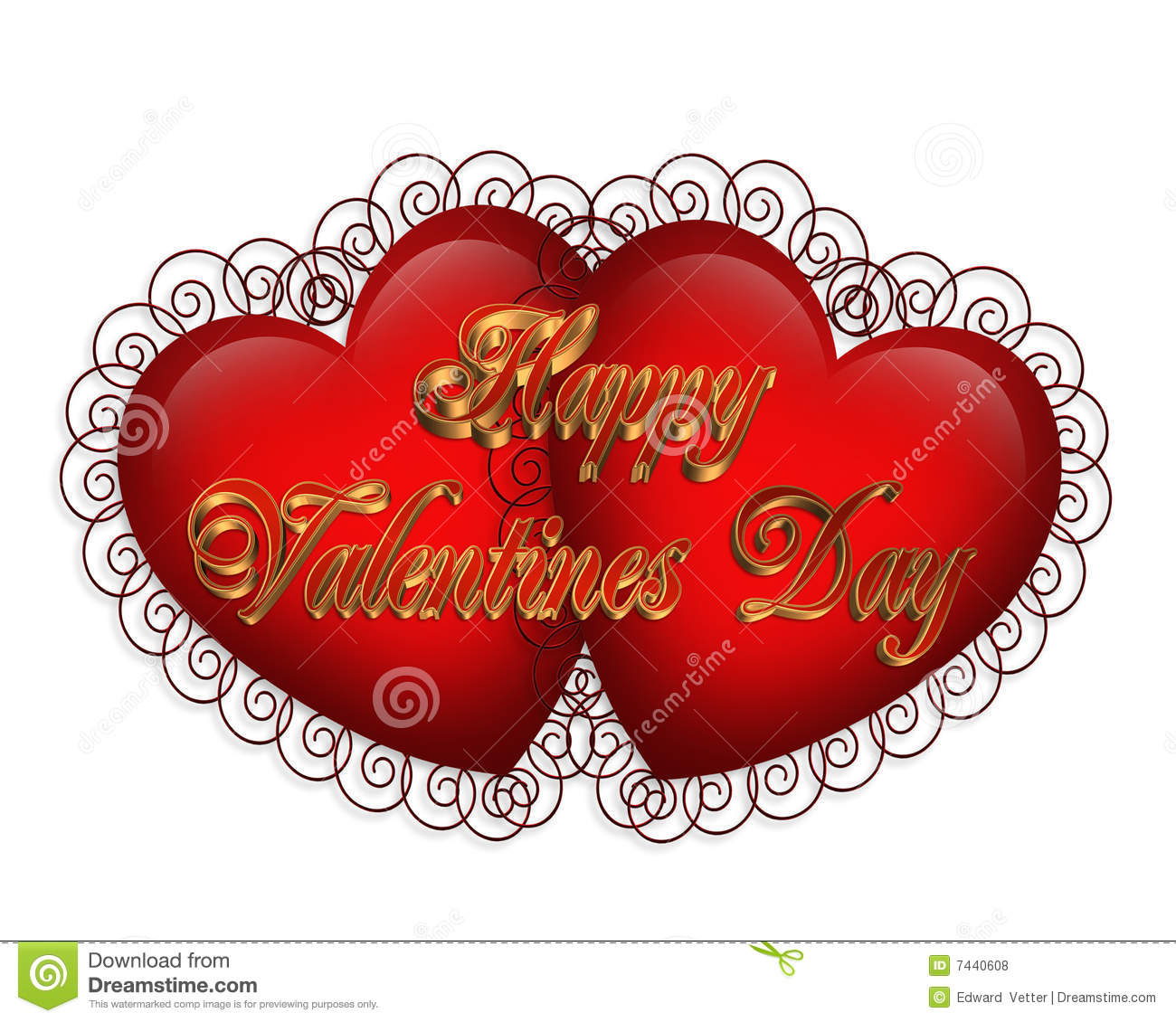 Coeur Dessin 3d Dessin 3d De Coeurs De Valentine Illustration Stock Illustration