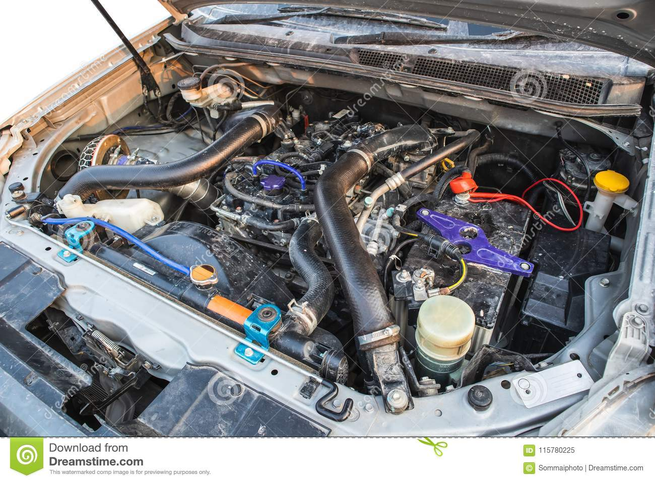 Litre Diesel Diesel Engine 2 5 Litre Under The Hood Of Pickup Truck Stock Image
