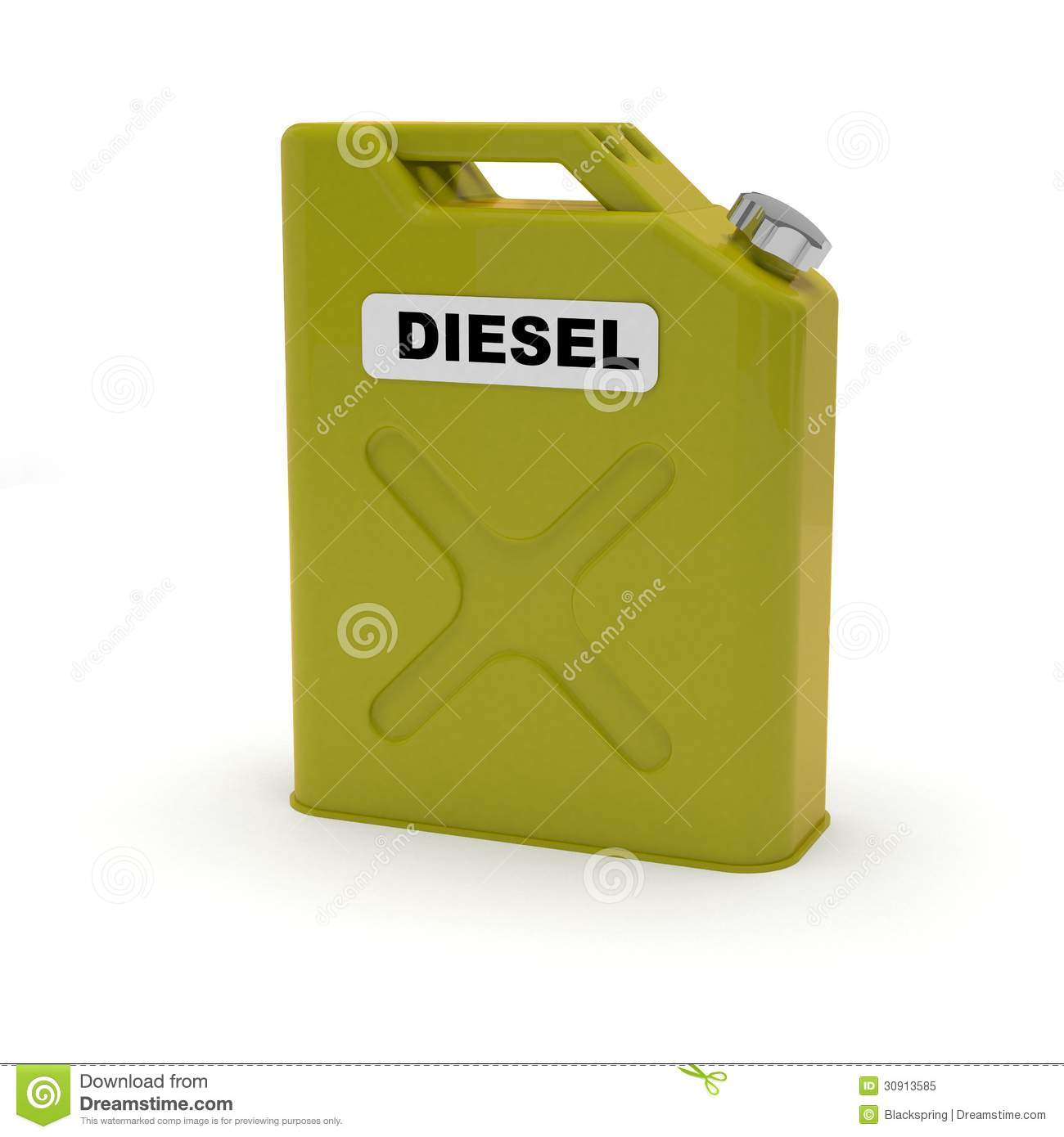 Benzine Jerrycan Diesel Jerrycan Stock Illustration Illustration Of