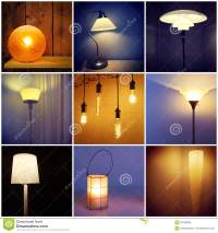 Different Styles Of Modern Lamps Stock Photo - Image: 60729596