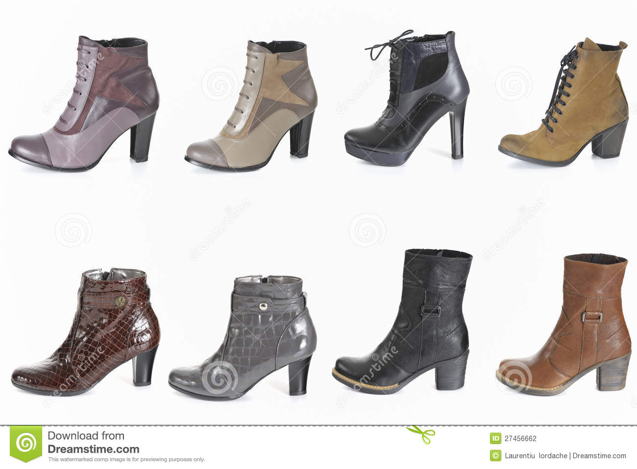 Different Types Of Woman Boot Stock Photography Image
