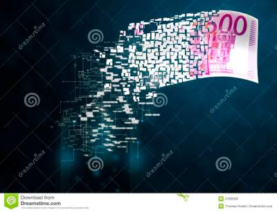 Digital Money Stock Illustration - Image: 47665991