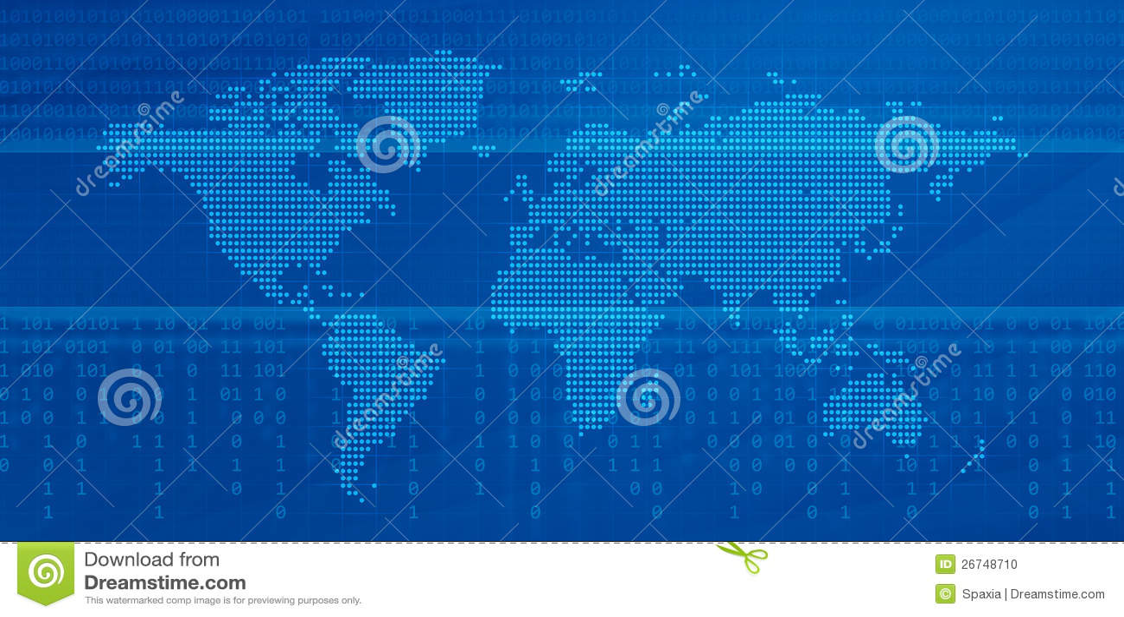 Binary Code Wallpaper Hd Digital World Map Stock Photo Image 26748710