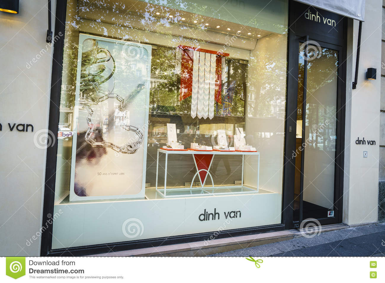 Libre Boutique Dinh Van Jewellery Boutique Editorial Stock Photo Image Of