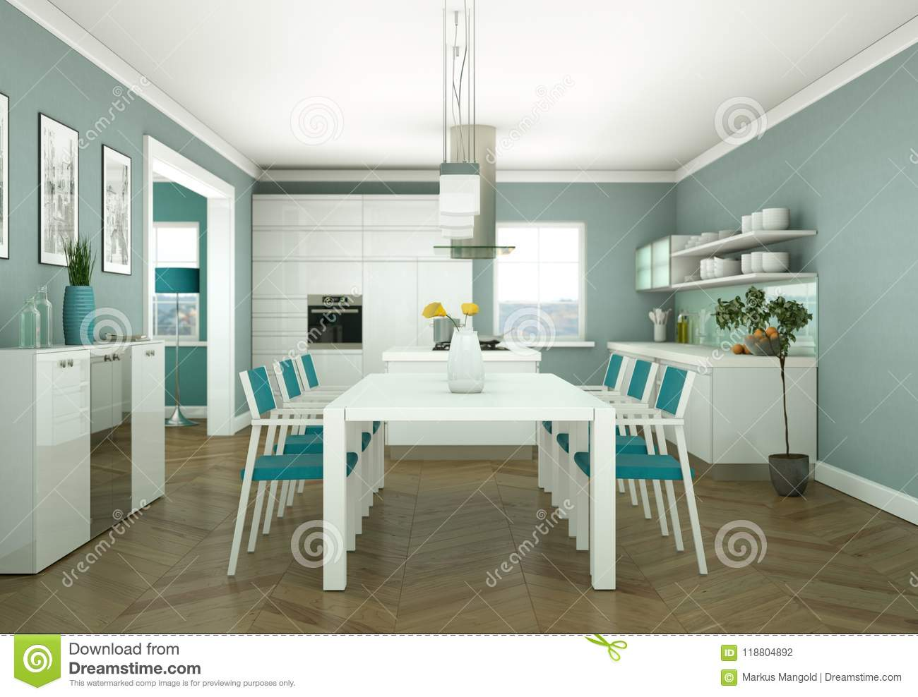 Decoration Interieur Moderne Appartement Dining Room Interior Design In Modern Appartment Stock Photo