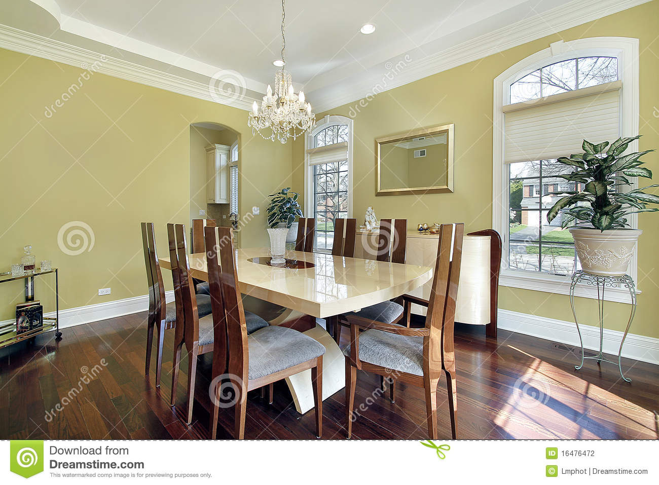 Yellow Dining Room Walls Dining Room With Yellow Walls Stock Photography Image