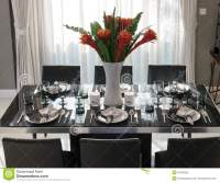 Dining Table With Elegant Table Setting Stock Image ...
