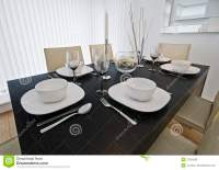 Dining Table Setup Royalty Free Stock Photos - Image: 12042558