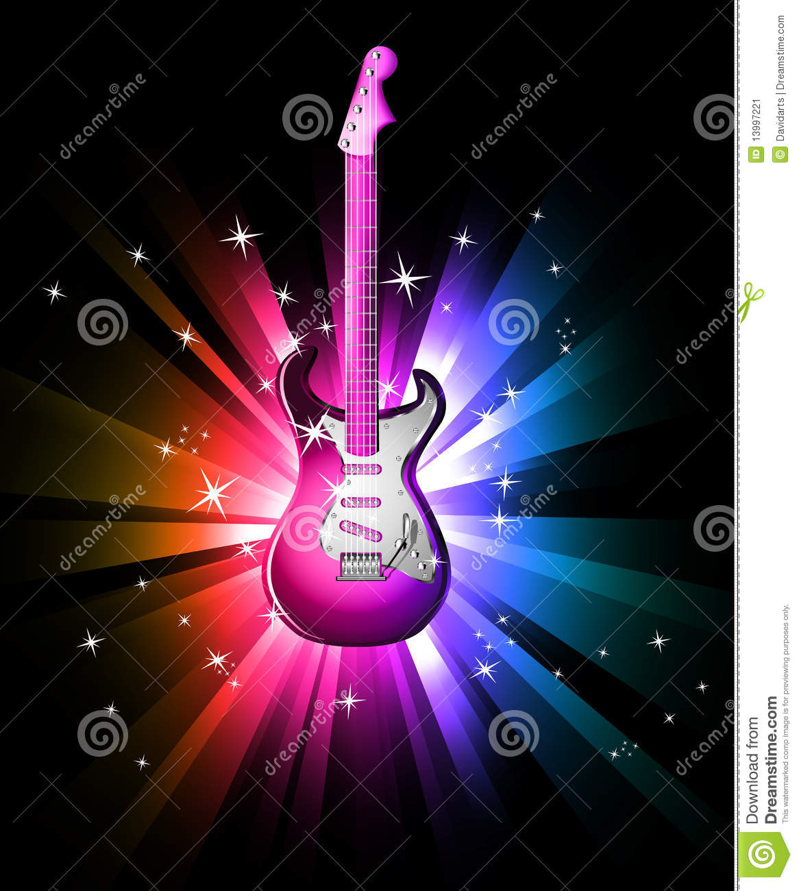 Mic Wallpaper Hd Disco Dance Background With Electric Guitar Stock Image