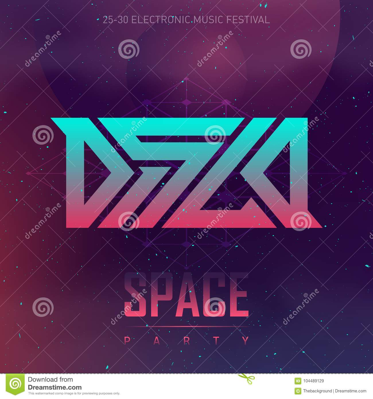 Electronica Medium Font Disco Space Party Electronic Music Festival Futuristic Design