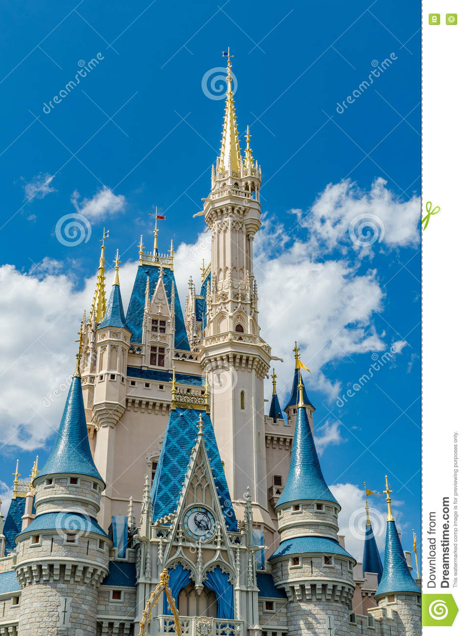 Disneyland Florida Disney Magic Kingdom Castle Editorial Photography Image Of Down