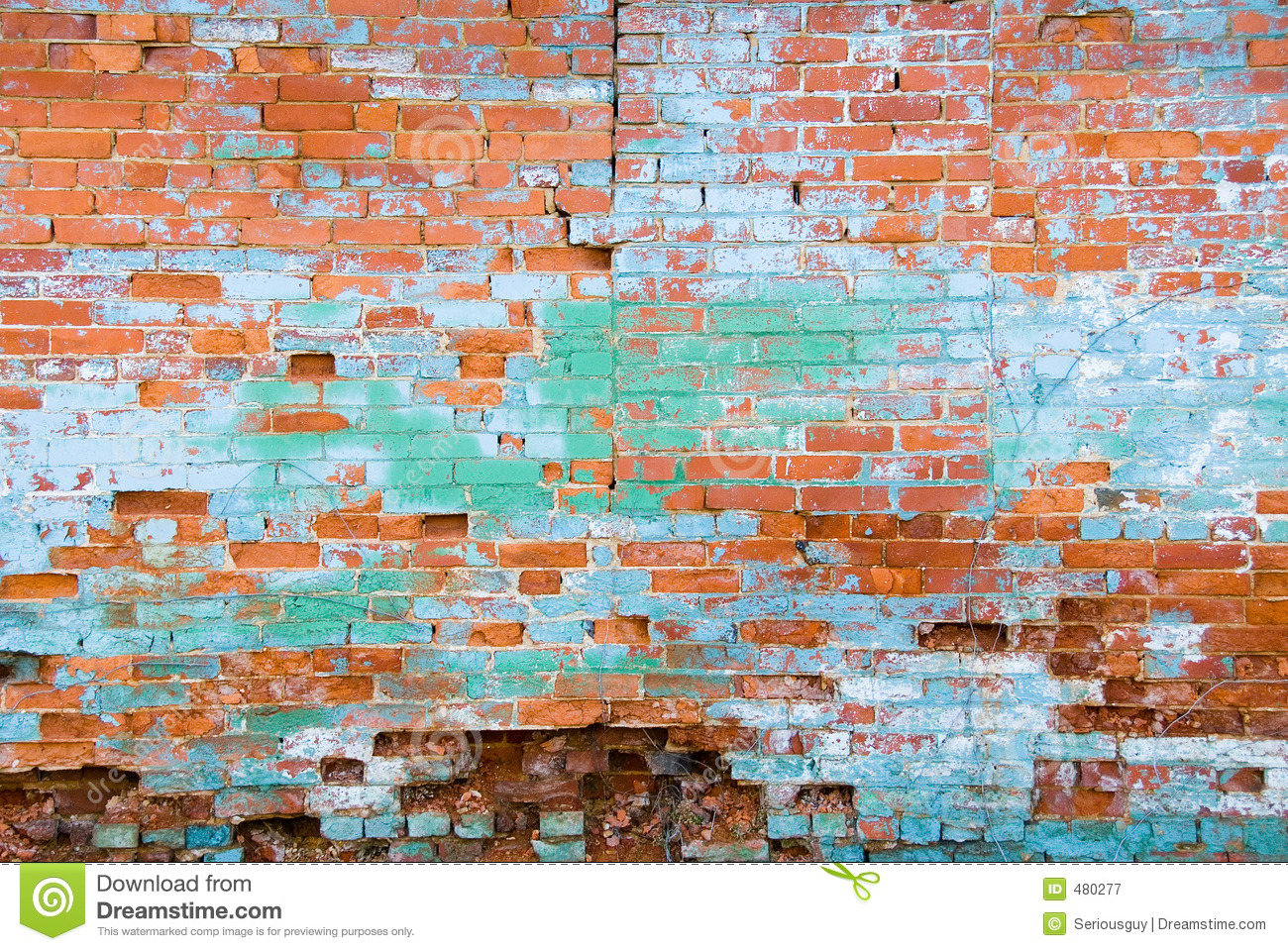 Distressed Brick Distressed Brick Wall Stock Image Image Of Eroding