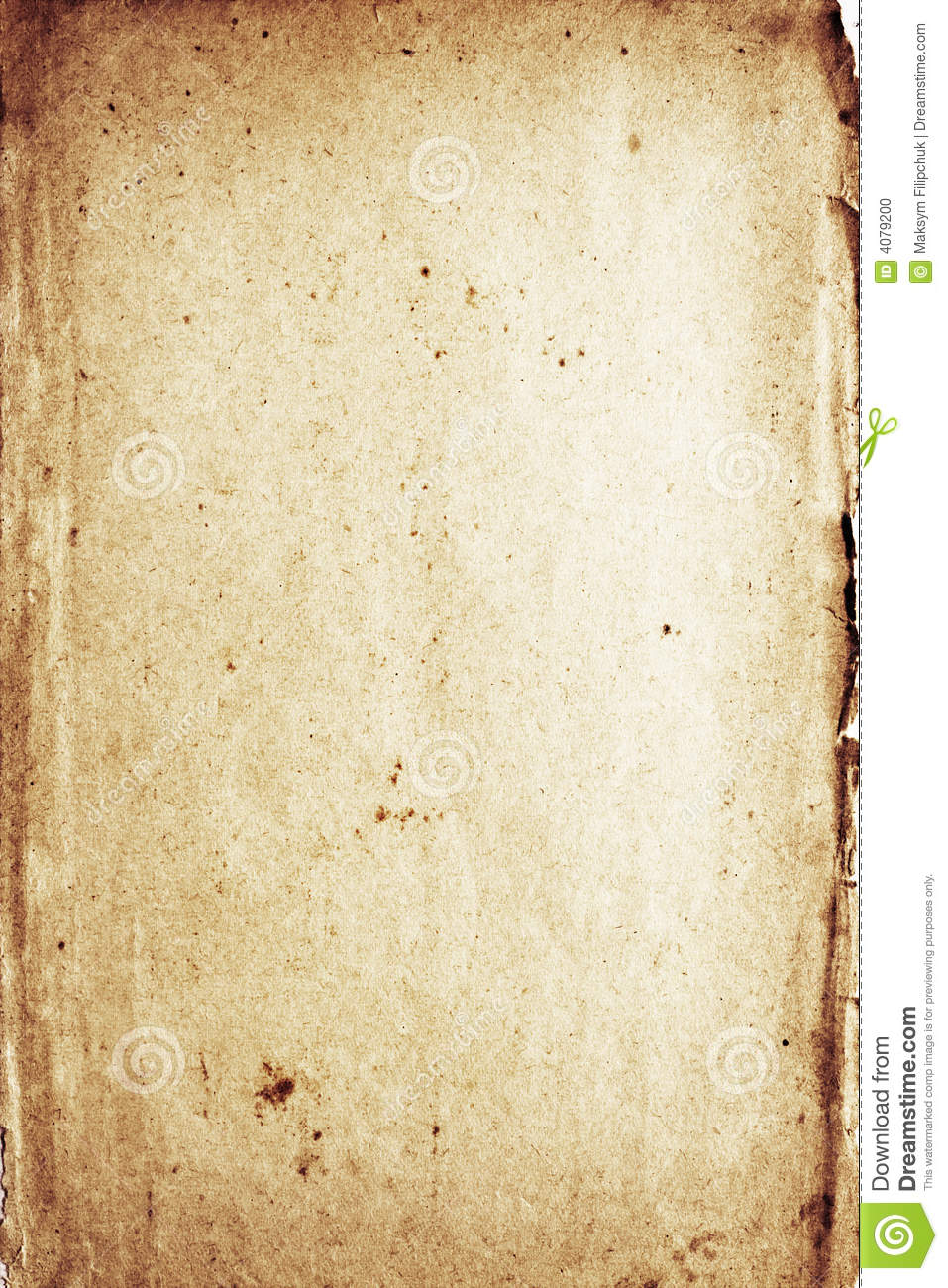 Shabby Deutsch Distressed Rotting Paper Stock Photo - Image: 4079200