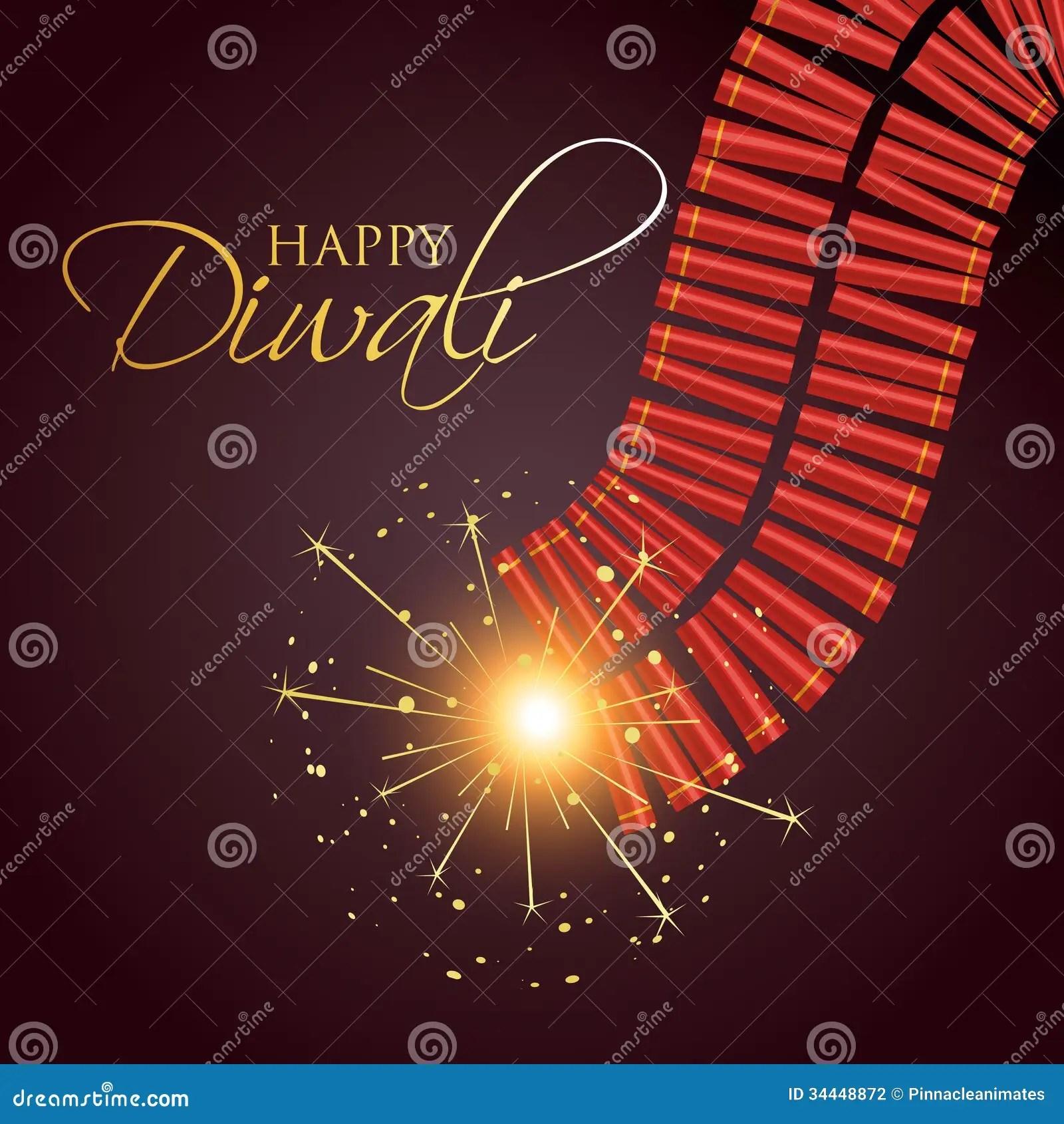 Diwali Hd Wallpaper Download Diwali Burning Crackers Stock Vector Illustration Of