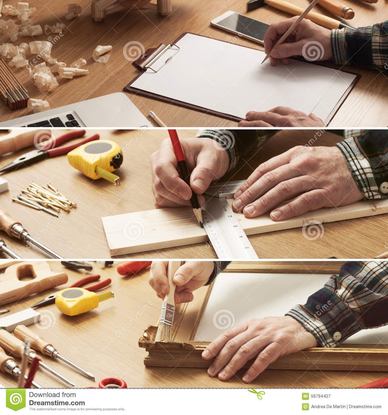 Do Yourself Home Improvement Project Diy And Carpentry Collage Stock Image Image Of Collage