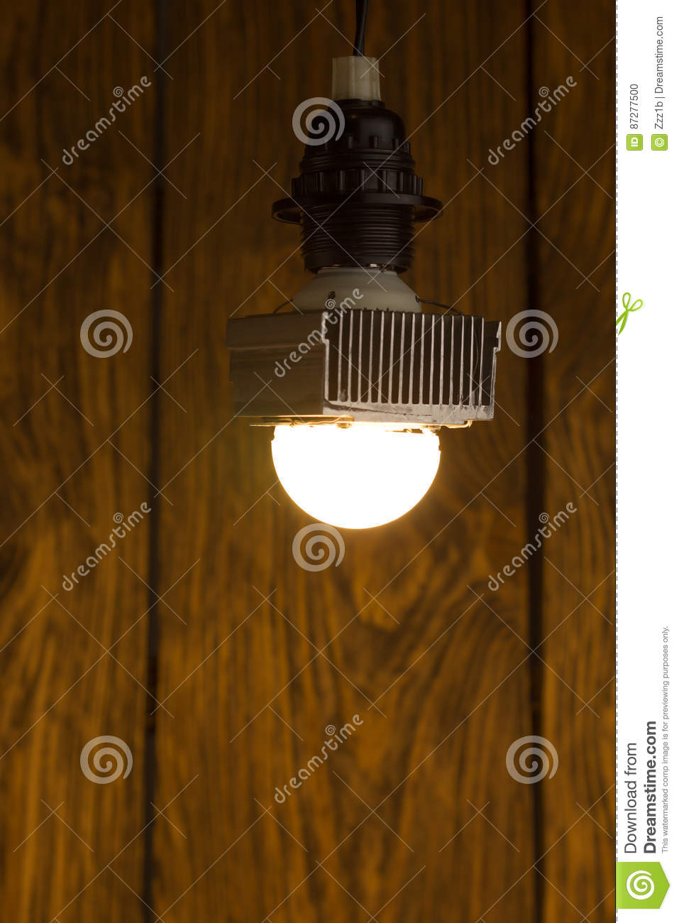 Diy Kerosene Lamp Diy Led Lamp On Wooden Background Stock Photo Image Of Fixture