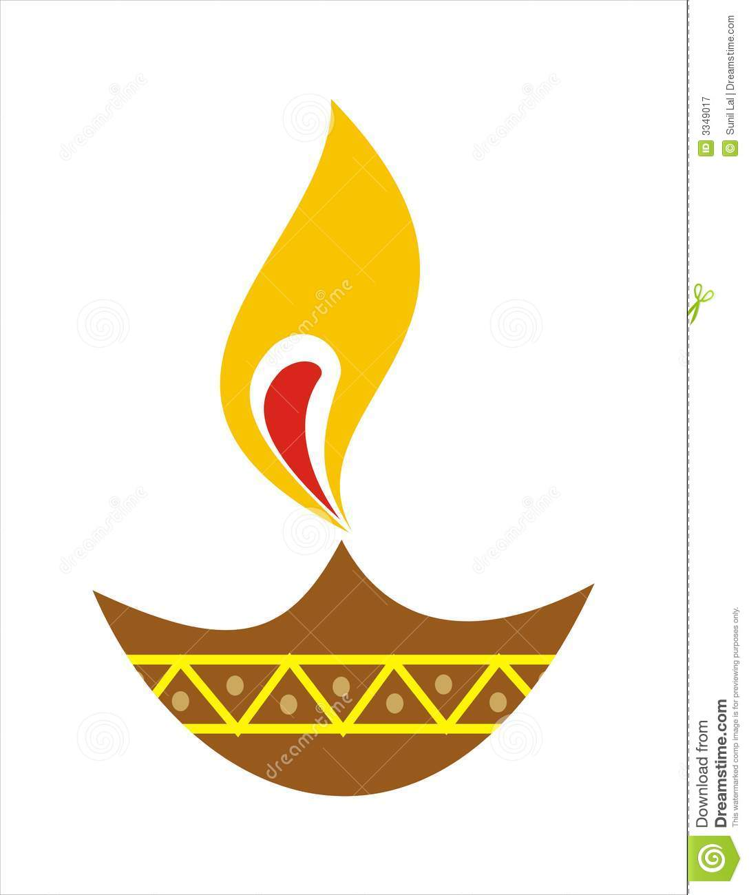 Earthen Lamp Diwali Diya Earthen Lamp Stock Illustration Illustration Of