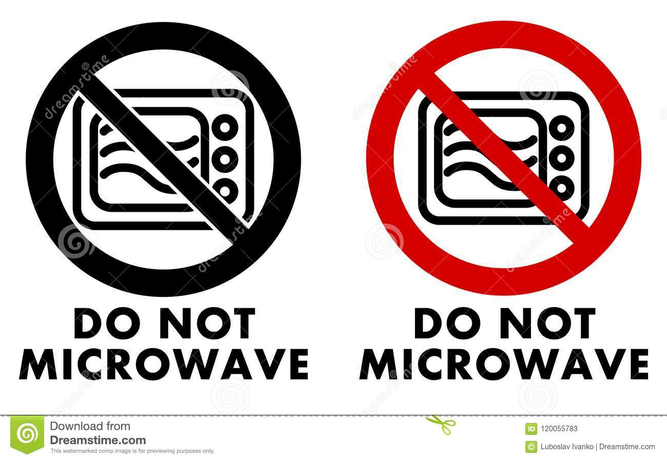 Oven Symbool Do Not Microwave Symbol. Oven Icon In Crossed Circle With