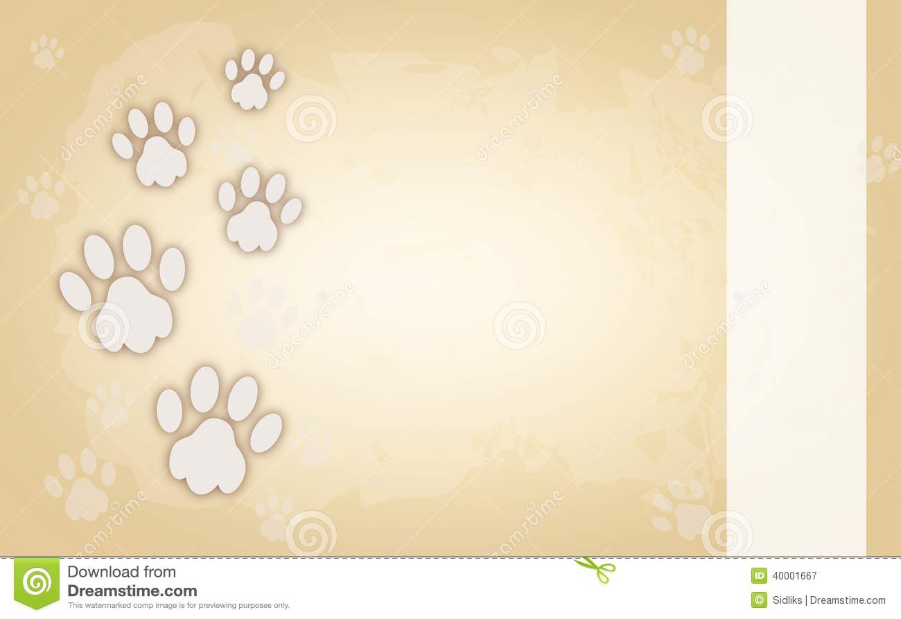 Abstract 3d Wallpapers Free Download Dog Paws On Light Brown Background Stock Illustration