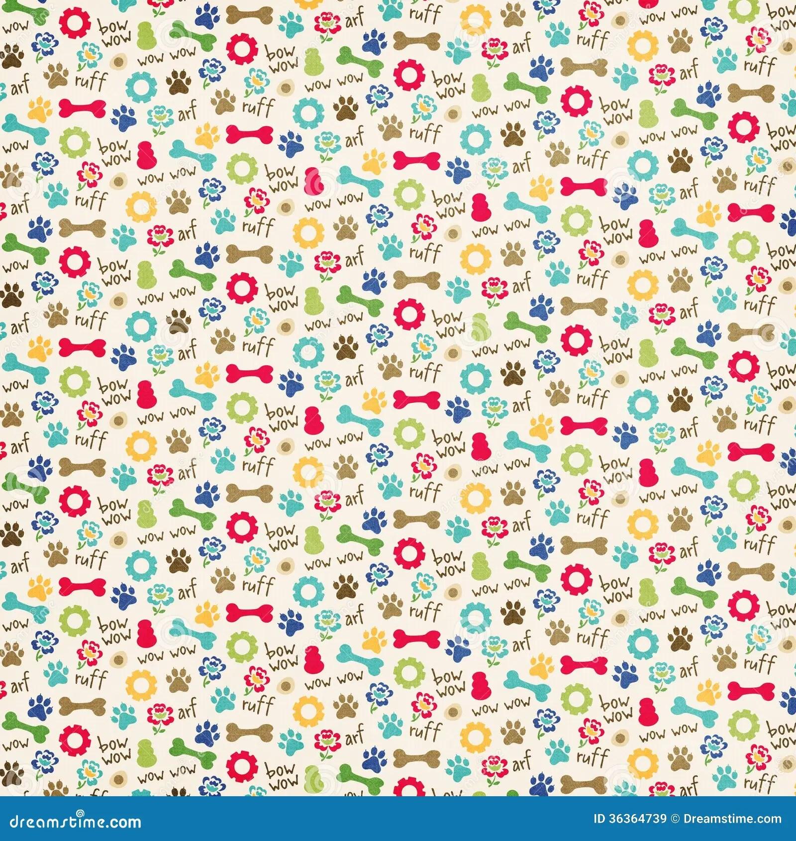 Cute Paw Print Wallpaper Dog Themed Pattern Stock Illustration Illustration Of