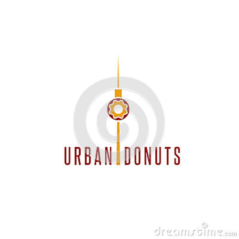 Donut And Television Tower Vector Design Stock Vector - Illustration