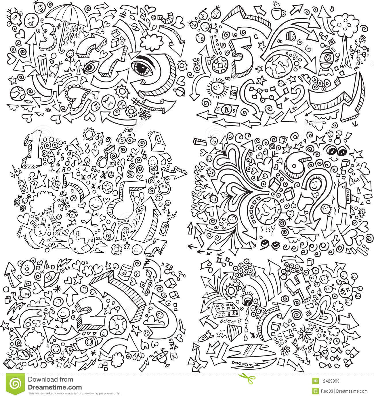 How To Ask Your Friend To Pay Back The Money They Owe Doodle Sketch Vector Set Stock Photos Image 12429993